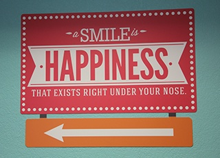 Smile Happines sign