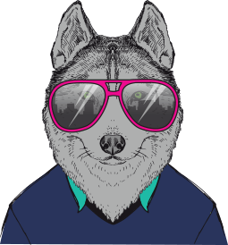 Animated fox wearing sunglasses