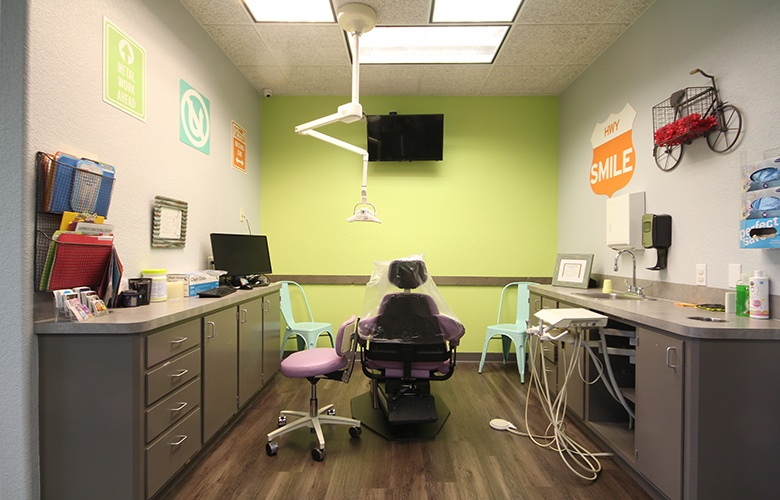 Kid friendly private exam room