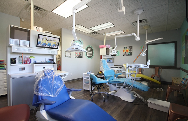 Three orthodontic chairs